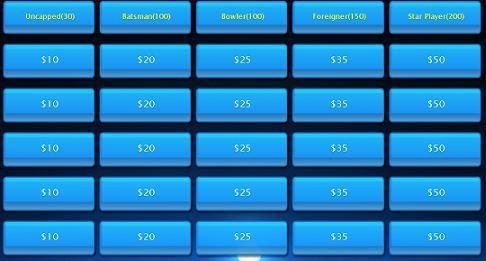 IPL Auction format quiz
